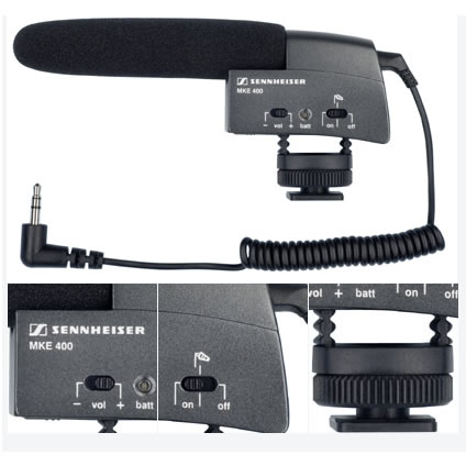 MKE400 Shoe Mount Shotgun Mic Mini Pin - Stereo