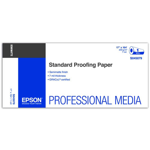 "17"" x 164' Standard Proofing Paper Roll 205gsm"