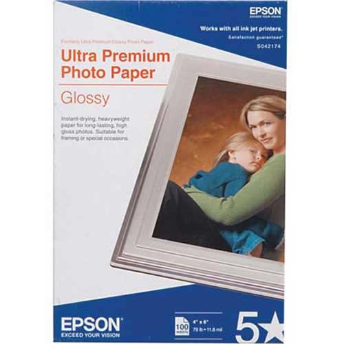 "4""x6"" Ultra Premium Glossy Photo Paper - 100 Sheets"