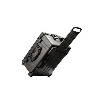 1610 Case Black no Foam w/Retractable Handle & Wheels