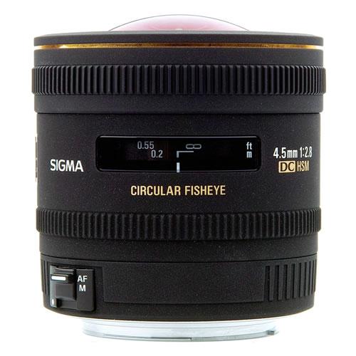 AF 4.5mm f/2.8 HSM EX DC Circ. Fisheye Lens for Canon