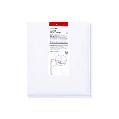 8.5x11 Landscape Scored Inkjet Paper 25 Sheets Doublesided Matte
