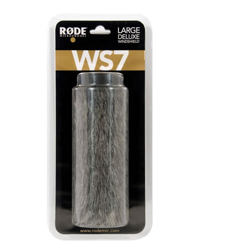 "WS-7 Large Deluxe Windshield for NTG-3, Shotgun Mic w/Maximum Slot Length of 7 1/4"", Diameter 19-2"