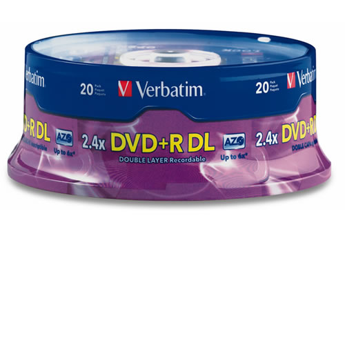 DVD+R DL 8.5GB 8X Spindle of 20