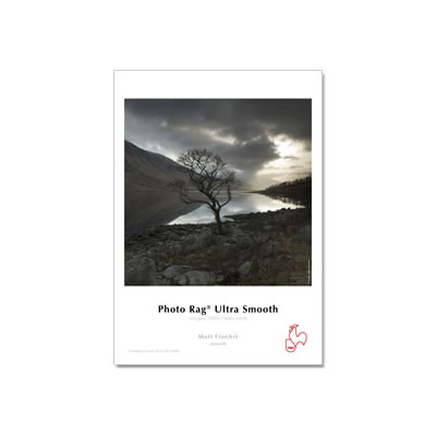 """17""""x39' Photo Rag Ultra Smooth 305gsm - Roll, 3"""" Core"""