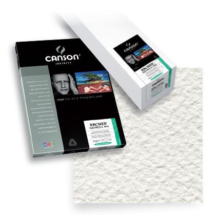 canson infinity 24 x 50 39 infinity aquarelle rag matte 310 gsm roll inkjet roll printer. Black Bedroom Furniture Sets. Home Design Ideas