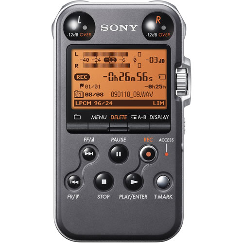 PCM-M10 Portable Digital Solid State 4GB Field Recorder