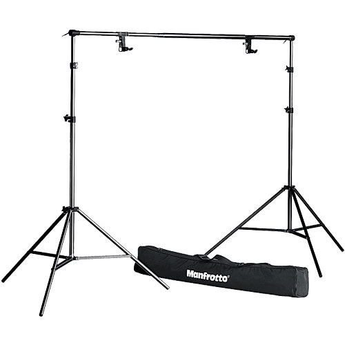 "1314B 9' Background Kit  "" N "" 2 Stands, 2 Clamps, Tele Bar, and Bag"