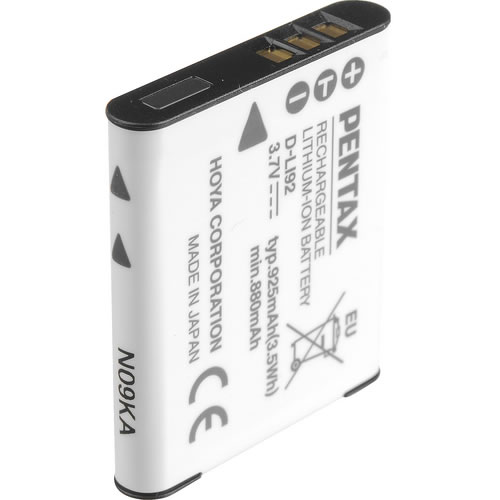 D-LI92 Lithium-Ion Battery for Optio X70, WG-1/2/3/4/5