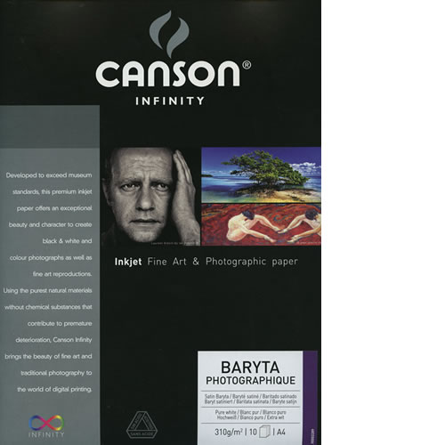 "8.5"" x 11"" Infinity Baryta Photographique Satin - 310 gsm - 10 Sheets"