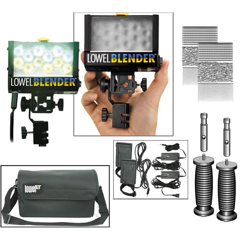 Blender Duo AC/DC-Sony Pack Blenders, AC Cord, Diffusers, Battery Sleds, Handle, Stud, Bag
