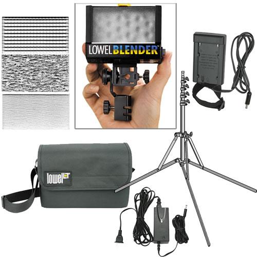 Blender Light Kit - Sony Blender, Battery Sled, Uni-Stand, AC Cord, Diffusers, Bag