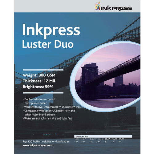 "13""x19"" Luster DUO 300gsm 100 Sheets *Min Qty 40 Units*"