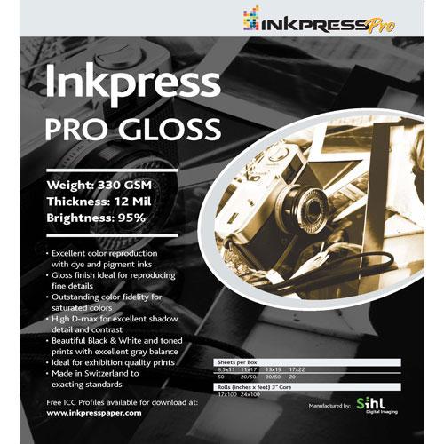 "11"" x 17"" PRO Gloss 330gsm 50 Sheets"