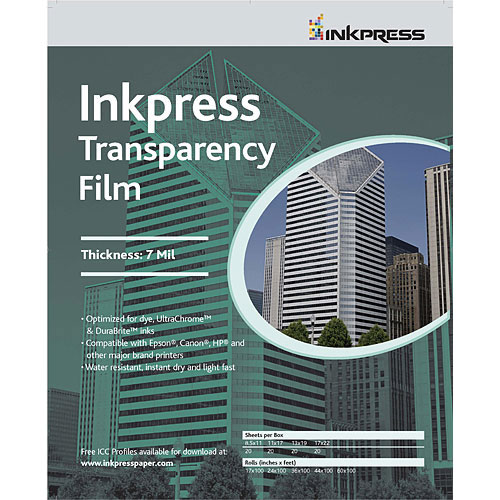 """8.5"""" x 11"""" Transparency Film 7mil 20 Sheets"""