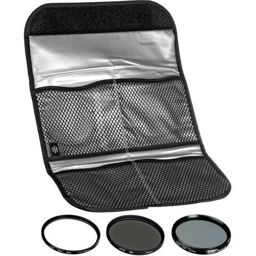 77mm Digital Filter Kit UV, PL-CIR,  Neutral Density 8x, Pouch
