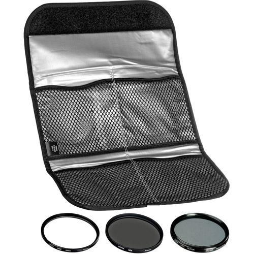 62mm Digital Filter Kit UV, PL-CIR,  Neutral Density 8x, Pouch