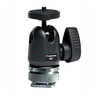 492LCD Micro Ball Head with Hot Shoe Mount
