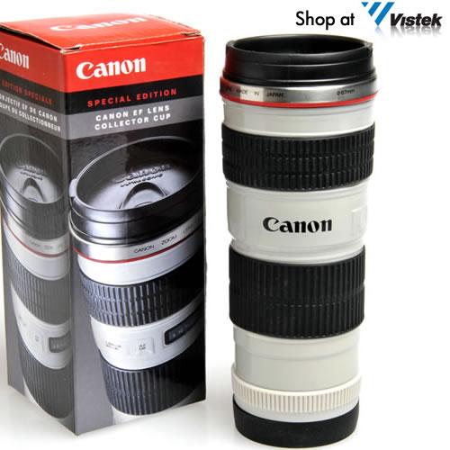 La tasse à café Canon 70-200mm