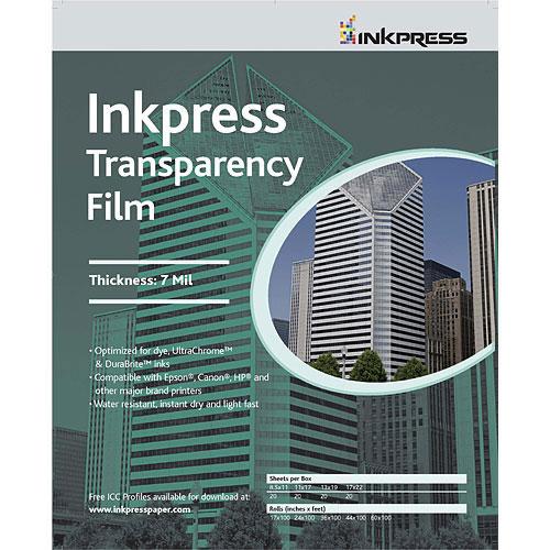 "44"" x 100' Transparency Film 7mil Roll"