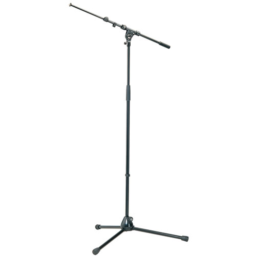210/9-Black Mic Stand 201 A/2 w/ 211/1 Telescopic Boom Arm