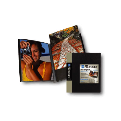 "8 1/2""x11"" Presentation Book Original Art Profolio Black 90 Pages"