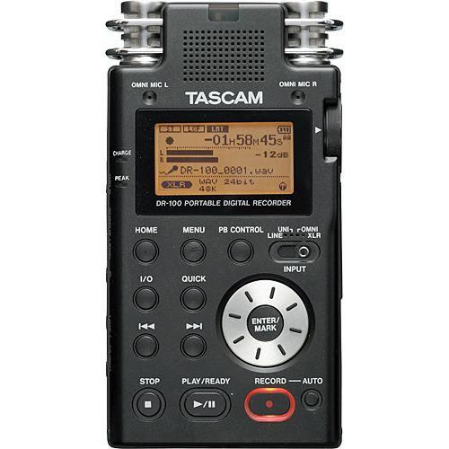 tascam dr 100 portable stereo recorder digital audio. Black Bedroom Furniture Sets. Home Design Ideas