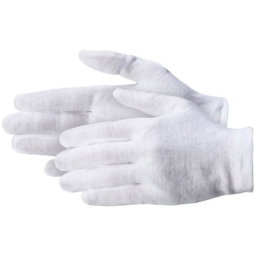 "100% Cotton Gloves - Light Weight 2.5 oz Ladies S 7-8"" - 12 Pairs per package"