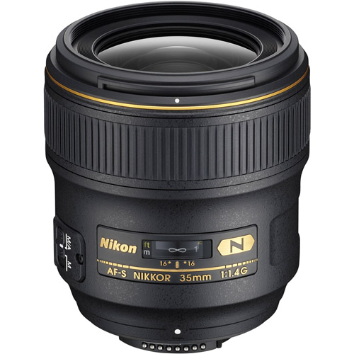 Nikon AF-S 35mm f/1.4 G Wide Angle Lens 2198 Full-Frame Fixed Focal ...