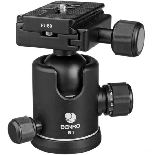 B1 B-Series Triple Action Ball Head Arca-Swiss for Benro 1 and 2 Series Tripods