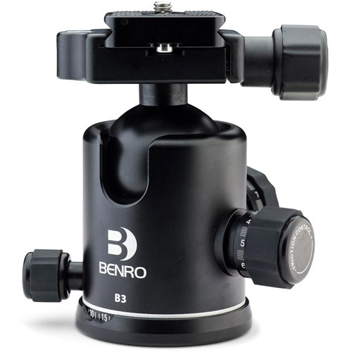 B3 B-Series Triple Action Ball Head Arca-Swiss for Benro 3 and 4 Series Tripods