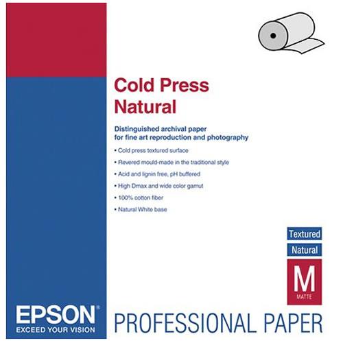 "17"" x 50' Cold Press Natural Roll"