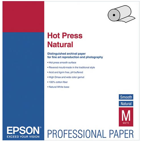"44"" x 50' Hot Press Natural Roll"