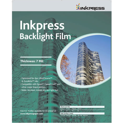 "8.5"" x 11"" Backlight Film 7 Mil 20 Sheets"