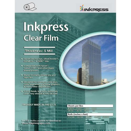"""17"""" x 100' Clear Film 5mil Roll"""