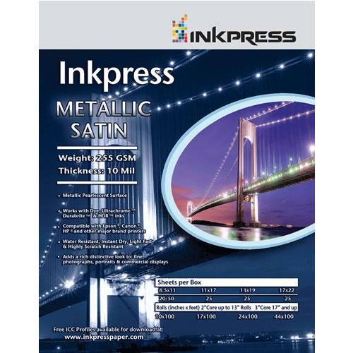 """12"""" x 12"""" Metallic Paper Satin 255gsm 10mil 25 Sheets"""