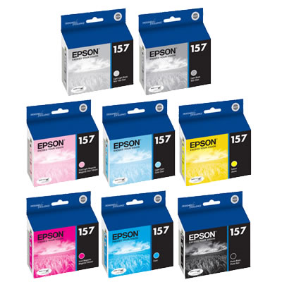 Stylus R3000 Color Ink Set 8 Cartridges w/Photo Black
