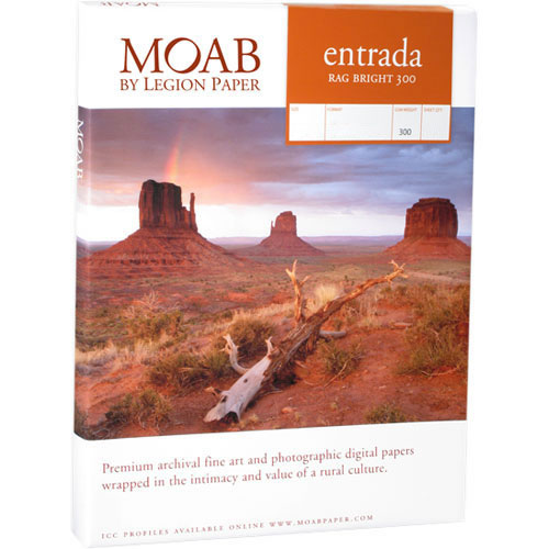 "13""x19"" Entrada 300gsm Bright 2 Sided Fine Art Paper 100 Sheets"