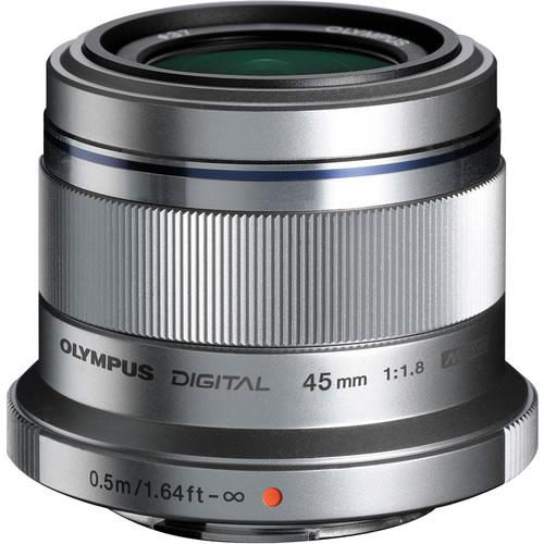 M.Zuiko 45mm f/1.8 Silver Lens