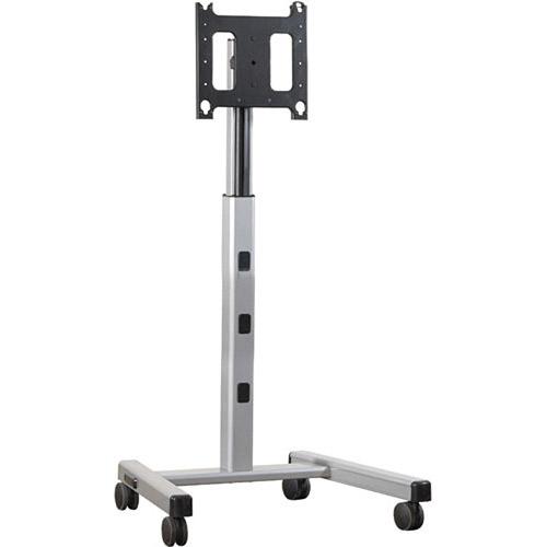 4'-6' Large Flat Panel Mobile Cart, Silver PFCUS