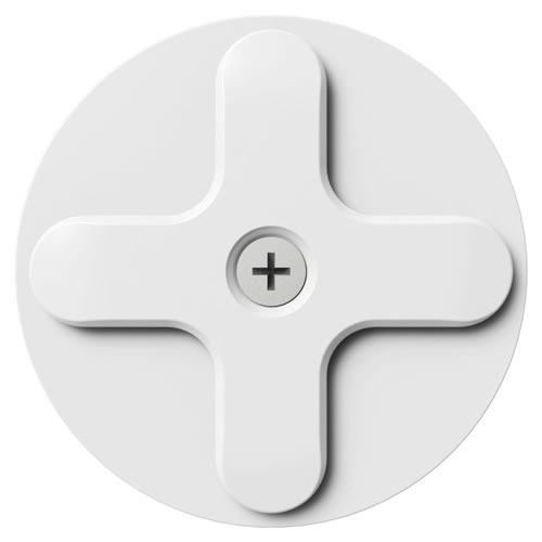 Wallee Wall Disk Mount WHT