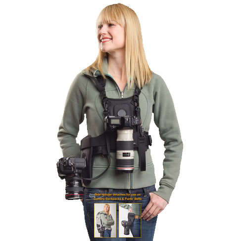 Cotton Carrier Camera Vest W Side Holster For 1 Or 2