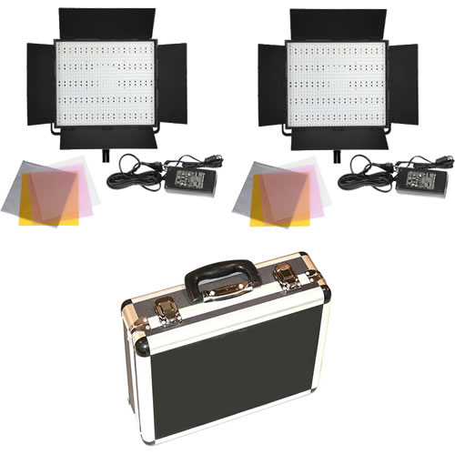 2 X LG-900S LED Lights 5600K with Hard Case