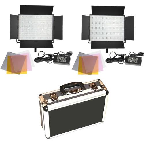 2 X LG-1200CP LED Lights Bi-Colour with Hard Case