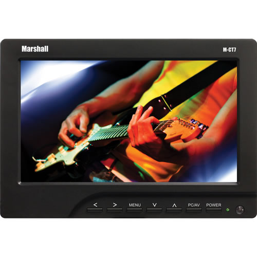 """7"""" HDMI LED Backlight Monitor with HDMI AVx2 VGA input w/ Canon LP-E6 Battery Assembly"""