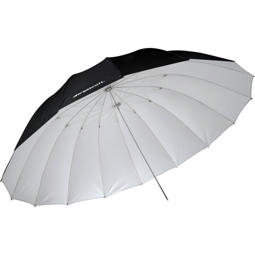 7' White/Black Parabolic Umbrella
