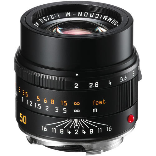 50mm f/2.0 ASPH APO-Summicron- M Black Lens (E39)