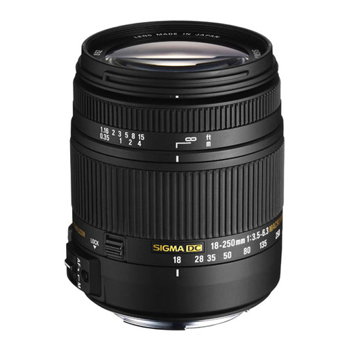 AF 18-250mm f3.5-6.3 DC Macro OS HSM Lens for Canon