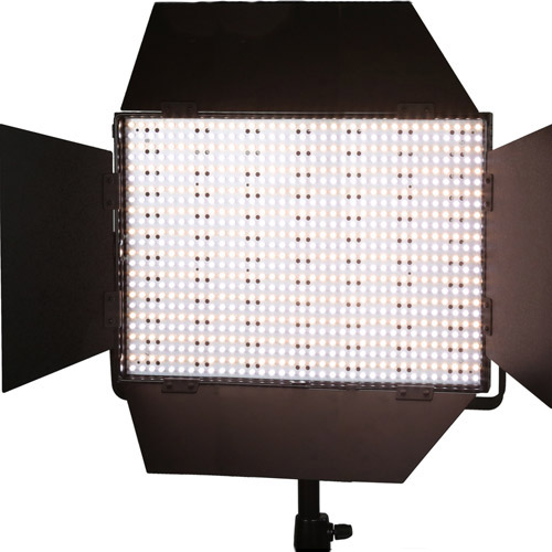 LG-1200CS LED Light Bi-Colour with V Mount, BD Diffuser, DC Adapter, 3200K and Green Filters