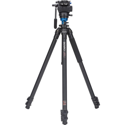 Aluminum Video Tripod Kit - Single Legs with S4 Video Head and Bag A2573FS4